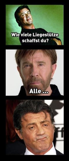 Who is the boss! - chuck norris, sly, Sylvester Stallone, pushups Source by antjedudda Good Jokes, Funny Jokes, Hilarious, Sylvester Stallone, Whatsapp Wallpapers Hd, Cuck Norris, Facebook Humor, Workout Humor, Man Humor