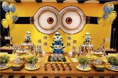 Raaisha's birthday with minions on April at Our Home Minions Birthday Theme, Minion Theme, Baby 1st Birthday, 3rd Birthday Parties, Minion Craft, Minion Baby, Despicable Me Party, Baby Party, Birthday Decorations
