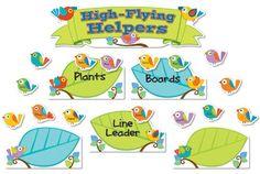 Boho Birds Job Assignment Bulletin Board Set