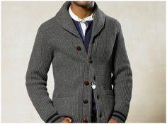 Recreate this look with a Remus Uomo chunky cable shawl collar cardigan at Daniel Cruz, Windsor www.cruzmen.com