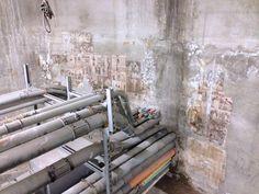 Juxtaposition: Previous Oregonian Printer basement now houses huge data lines.