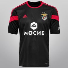 Camisa Adidas Benfica Away 2014 s/nº - Preto+Pink