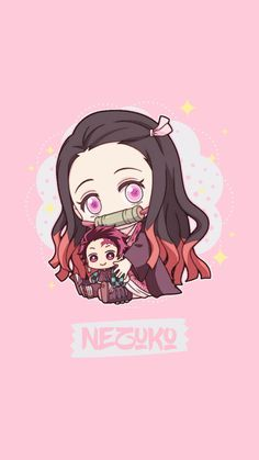 Fan Art chibi - Kimetsu No Yaiba so cute Anime Angel, Anime Demon, Kawaii Anime Girl, Anime Girl Cute, Anime Art Girl, Kawaii Chibi, Chibi Manga, Cute Anime Chibi, Chica Anime Manga