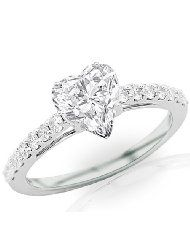 heart cut engagement ring - Google Search