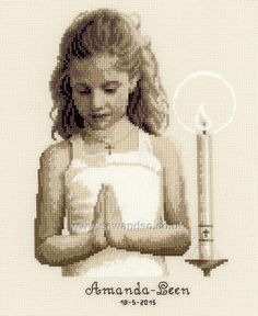 Buy Confirmation Girl Cross Stitch Kit Online at www.sewandso.co.uk