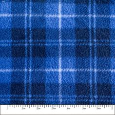 Blue Plaid Print 07 Fleece Fabric by the yard Fleece Fabric, Knitted Fabric, Blue Plaid, Just For You, Yard, Sewing Ideas, Etsy, Products, Garten