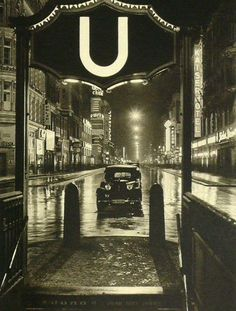 Berlin at Night, 1930's, Martin Hürlimann