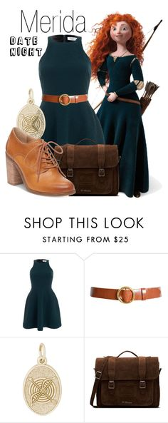 """""""Merida~ DisneyBound"""" by basic-disney ❤ liked on Polyvore featuring Merida, Elizabeth and James, Frame, Rembrandt Charms, Dr. Martens and Lucky Brand"""