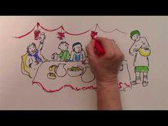 Les noces de Cana dessinée et racontée par Martine Bacher. Pour enfants de 4 à 8 ans.