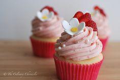 We just turned F-O-U-R + Strawberry Shortcake Cupcakes!