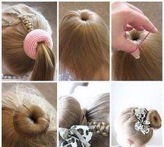 Cute Bun Hairstyles for Girls – Our Top 5 Picks for School or Play – Frisuren 2020 Cute Bun Hairstyles, Little Girl Hairstyles, Trendy Hairstyles, Braided Hairstyles, Short Haircuts, Summer Haircuts, Female Hairstyles, Modern Haircuts, Updo Hairstyle