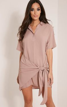 https://www.prettylittlething.com/catalog/product/view/id/117368/s/chessca-nude-tie-front-shirt-dress/