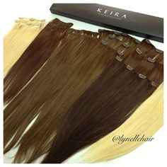 Clip On Keira Hair Extensions added to the top of your head to create volume - perfect for thin or thinning hair.   Have fun with your ‪#‎KeiraExtensions‬!  Visit us at http://www.keirahairextensions.com/#!product/prd1/4286895785/keira-clip-on-hair-extensions-22%22-full-head-set