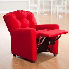 Brazil Furniture 4-Button Back Child Recliner