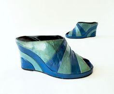 1970s Vintage Art Deco Style Platform Shoe / Bootie Size 6