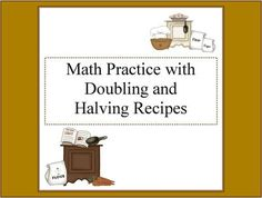 Worksheets to change the quantities of recipes. Ideal for doubling ...