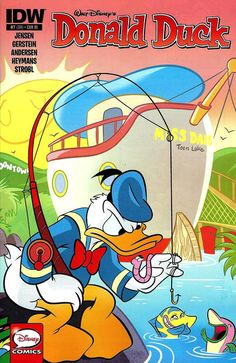 Cover for Donald Duck (IDW, 2015 series) / 374 Disney Duck, Disney Mickey, Disney Art, Disney Girls, Disney Stuff, Disney Best Friends, Mickey Mouse And Friends, Cartoon Books, Comic Books