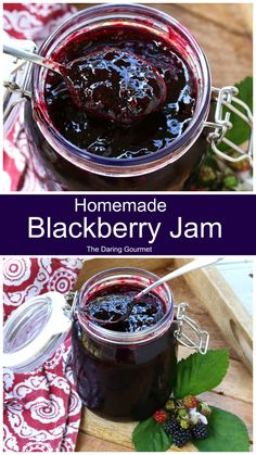 Bursting with concentrated blackberry flavor, this homemade blackberry jam is easy to make and there's no need for pectin! Jelly Recipes, Fruit Recipes, Vegan Recipes Easy, Drink Recipes, Soup Recipes, Homemade Blackberry Jam, Blackberry Recipes, Blackberry Jelly Recipe, Sweets