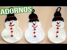 Adornos y Colgantes de Navidad Tejidos a Crochet ( imagenes ) - YouTube