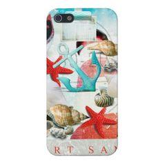 Nautical Seashells Anchor Starfish Beach Theme