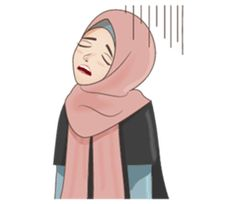 This hijab girl will remind you about good things in your life and makes your chat more fun. Girl Cartoon, Cartoon Art, Islamic Cartoon, Hijab Cartoon, Line Store, Line Sticker, Funny Cartoons, Funny Faces, Emoticon