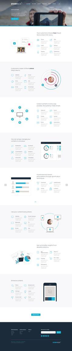 Storybox Website   #webdesign #flatui
