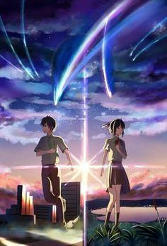 Mitsuha Miyamizu  Taki Tachibana   Kimi No Na Wa   Your Name   By Makoto Shinkai