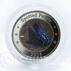 West Nusa Tenggara 1 dollar Spotted Purple butterfly fantasy coin 2015