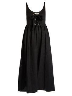 Lace-up midi linen dress | Mara Hoffman | MATCHESFASHION.COM US