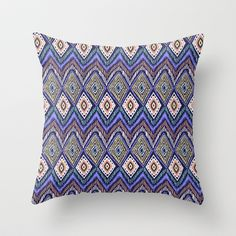 IKAT Throw Pillow by Isabella Salamone - $20.00