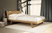Malta Bed with Wood Headboard ( Teak )   Teak Furniture