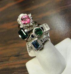 Plenty of colored stone rings at #DynastyJewelryandLoan #DynastyDifference www.DynastyPawn.com