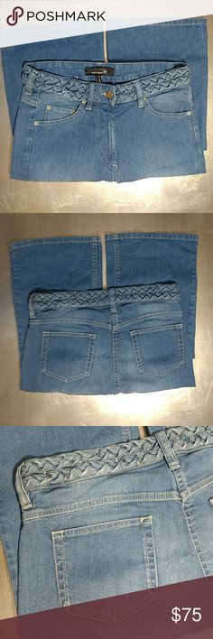 """Isabel Marant Etoile Braided Belt Jeans Isabel Marant Etoile Braided Belt Jeans  Details  Traditional 5 Pocket Styling 9"""" Front Rise Built In Braided Belt  Material Content 99% Cotton 1% Elastic  Measurements Laid Flat Waist 15"""" Inseam 32.5""""  Size 38 (Moroccan) US Women's Size 6 Excellent Pre-Loved Condition ❤️ Isabel Marant Jeans Flare & Wide Leg"""