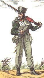NCO of Orel Regiment in 1812-1813, picture by Oleg Parkhaiev, Russia