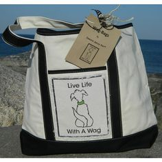 Wag Bag Canvas Tote in 2 Colors | Snazzy Jazzy Pet