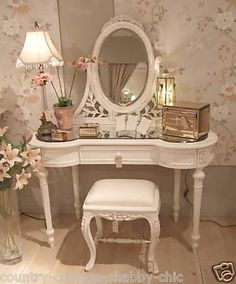 vintage vanity desk with mirror. Dressing Room Vanity Table Penteadeira Makeup Storage  Mirror Quarto Decorao Home Interior Design Decoration Organization Beautiful Antique with and Bench Simply Pink