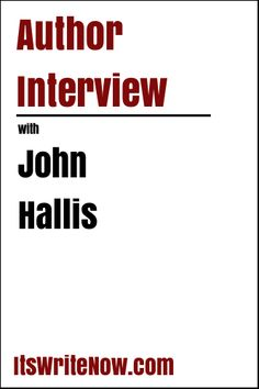 Will the mystery of the butterflies be uncovered? We could read 'Sara Flutterbye and the Spooky Woods' to find out, but instead, I've decided to chat with the author of this wonderfully illustrated book, John Hallis.  https://itswritenow.com/author-interview-with-john-hallis-of-sara-flutterbye-and-the-spooky-woods/