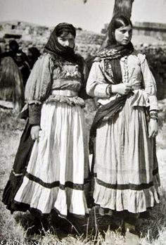 Kurdish women in traditional daily outfit, from the region of Van/Wanê, 1970.