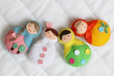 Matryoshka Little Russian Dolls:  No pattern,photo only, but could figure it out.