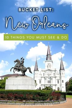 New Orleans is a city quite unlike any other, with so much to see and do! Read on for our list of the top 10 things everyone should do while in New Orleans. Tours New Orleans, New Orleans Travel, Hotels In New Orleans, Canada Travel, Travel Usa, Travel Tips, Travel Goals, Bucket List Destinations, Travel Destinations