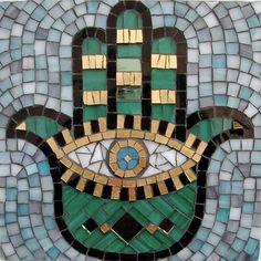 Hamsa mosaic.