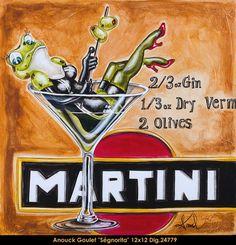 """GOULET, Anouck - Le Balcon d'Art - Galerie d'art - Montréal, Québec """"Martini Et Moi""""  #24253"""