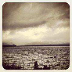 Tormentón sobre el lago Nahuel Huapi