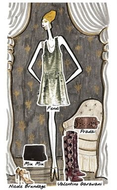 Look 2 - Sofia - Metallic: to find out what the Doll is wearing, click on the illustration...