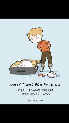 directions for packing