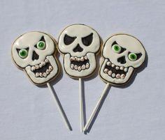 SKELETON Skull Pirate Halloween Decorated Sugar Cookies