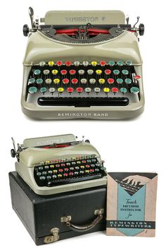 RARE 1936 Remington Rand 5 #Typewriter with Colored Available now on Retroburgh
