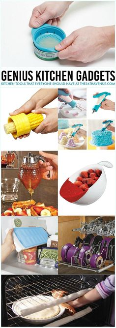 Kitchen Gadgets - These kitchen tools are seriously genius. Pin it now and use them later.