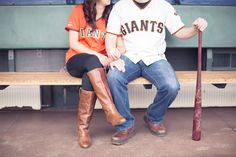 AT&T Park SF Giants Themed Engagement Session- Rachel + Mike » This Love of Yours Photography – San Francisco Wedding Photographer