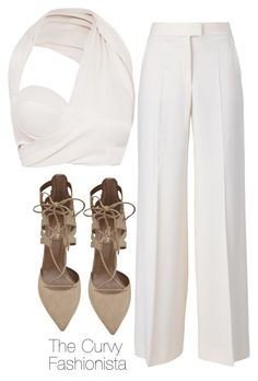 """""""Untitled #452"""" by thecurvyfashionista ❤ liked on Polyvore featuring STELLA McCARTNEY and Aquazzura"""